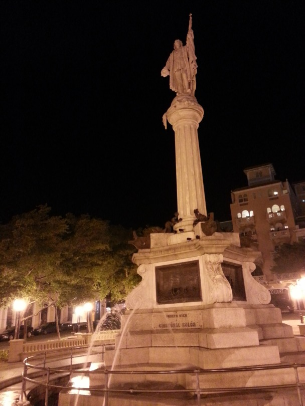 Christopher Columbus Statue in Old San Juan in Puerto Rico