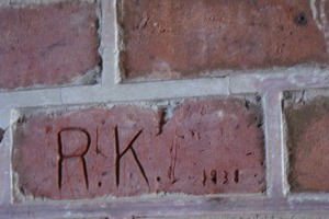 Initials engraved to be remembered forever at an old Fort