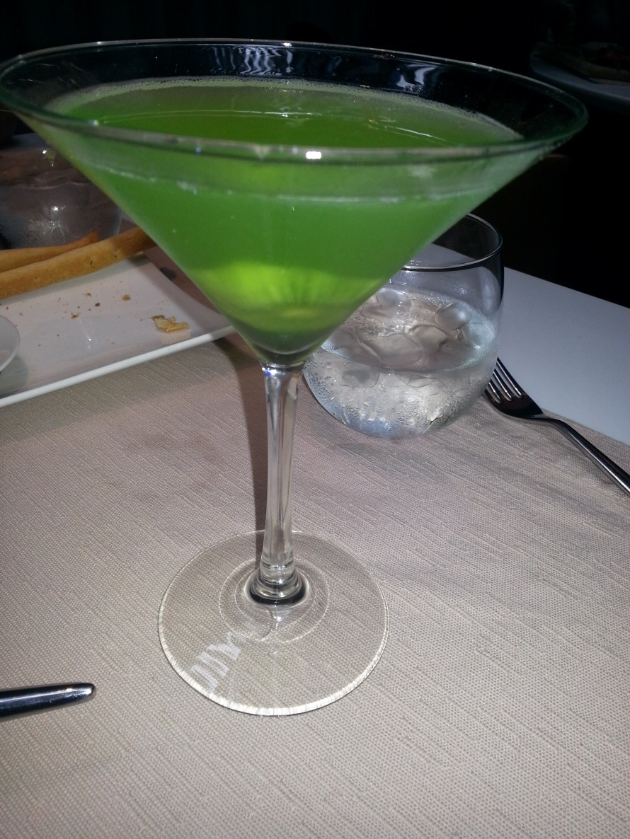 After a Long Week Fraught with Drama: Ode to A Kiwi Apple Martini
