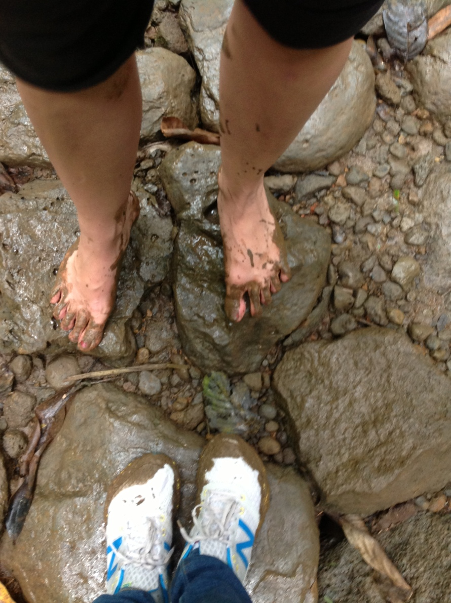 Liberatingly Getting our Feet Dirty along Manoa Falls