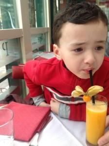 Tasting new drinks in Italy