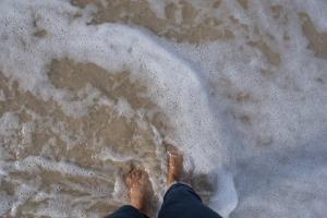 dipping my feet in water in cuba
