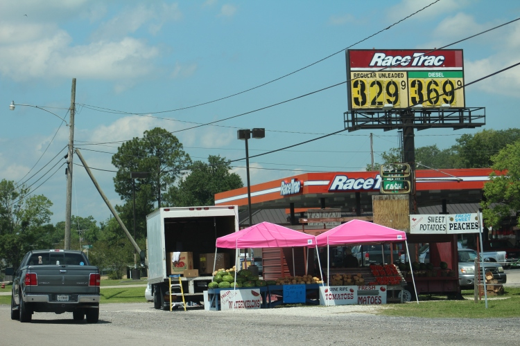 lousiana fruit stand outside lake charles