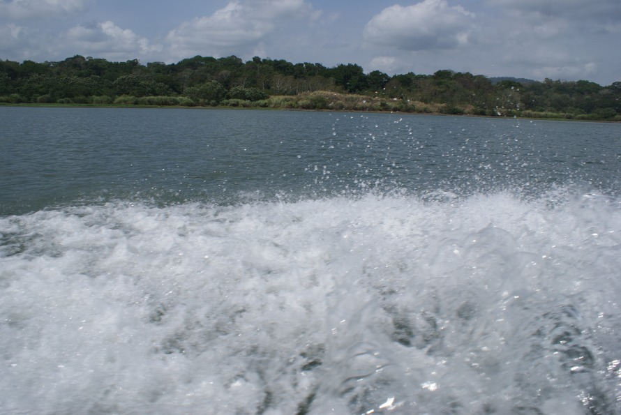 Splashing in the Panama Canal
