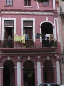 Pink House in the middle of the Prado