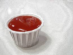 a tub of kethcup
